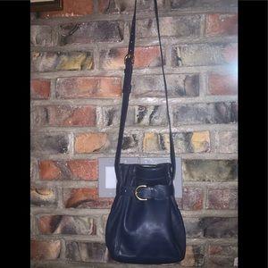 Coach brand 💯 % leather navy blue crossbody bag.